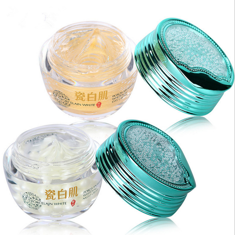 24 K gold day creams+pearl night creams face care treatment whitening cream skin care Acne Pimples Moisturizing Anti Winkles(China (Mainland))