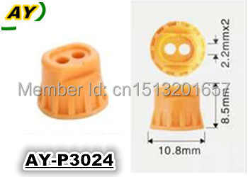 free shipping! 500pieces/set Whole sale fuel injector repair kit plastic pintle cap for AY-P3024(China (Mainland))