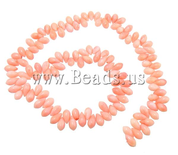 Free shipping!!!Natural Coral Beads,Jewelry Brand, Teardrop, reddish orane, 9x5mm, Hole:prox 1mm, Lenth:prox 16 Inch<br><br>Aliexpress