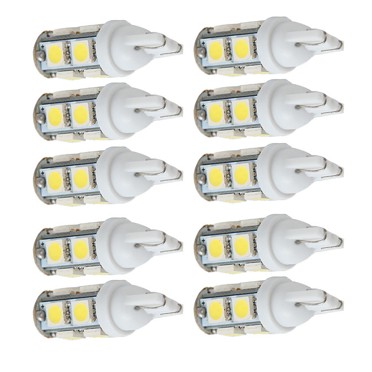 10Pcs T10 5050 9-SMD Gas Economy High Power Car Wedge Lamps Parking Tail Backup Corner Signal LED Lights Bulbs White(China (Mainland))