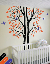 Buy Autumn tree wall decal trees birds wall mural forest nature wall sticker DIY Removable wall paper size 61*92.5inches for $59.72 in AliExpress store
