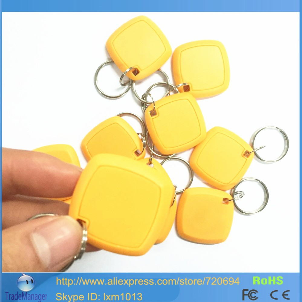 20PCS/Lot EM4305 Proximity LF/125Khz Smart RFID ID Cards / Tags / Keyfobs/Key Chains Support Copier EM4100 Chip/ HID card(China (Mainland))