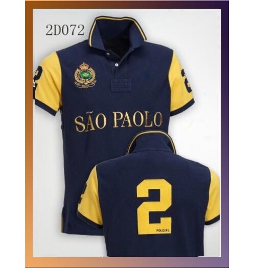big horse rl Polo Shirts New York Dubai Miami Munich Milan London RL Tees Pure Cotton NO. 2 NO.5 Men Polo Shirts(China (Mainland))