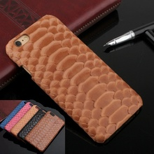 Real Genuine Leather Case For iPhone 7 6 6S Plus Cell Phone Luxury 3D Python Pattern Snake Skin Texture Design Phone Cover Cases(China (Mainland))