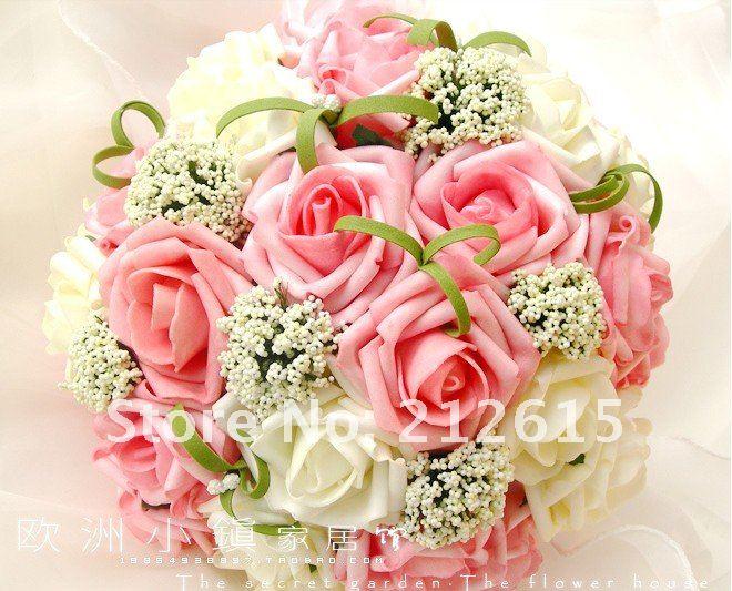 Pe Exp Dition Gratuite Bouquet Rose Roses De Mousse Boule
