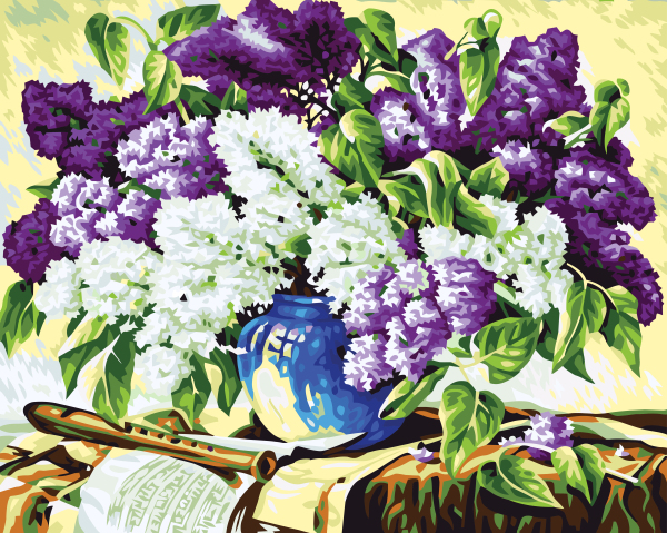 Frameless Flower Oil Painting By Numbers On Canvas Coloring Home Wall Decor DIY Digital Painting 40x50cm Violtr Boquet G206(China (Mainland))