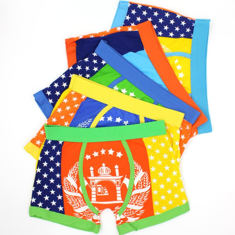 High Quality 3-10 Age Boys underwear panties cotton Kids boxers shorts/Boy briefs Mixed Color(China (Mainland))