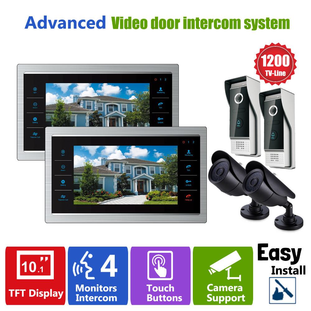 YSECU  Door Video Camera Video Doorbell System with Pinhole Camera  3.6MM Lens Security  1200TVL 2V2V2  Home Apartment Entry Kit<br>