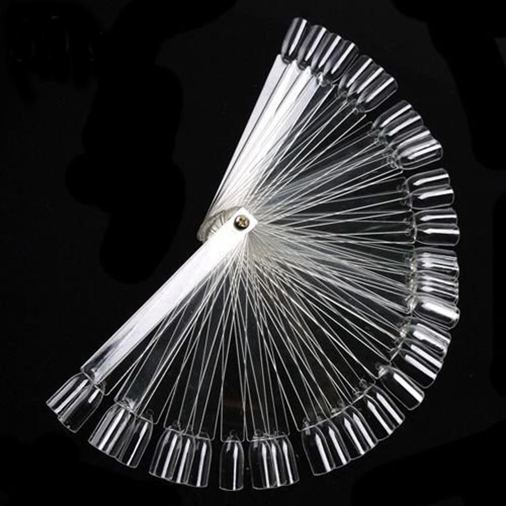 USA Stock! 50x False Display Nail Art Fan Wheel Polish Practice Tip Sticks Design DIY(China (Mainland))