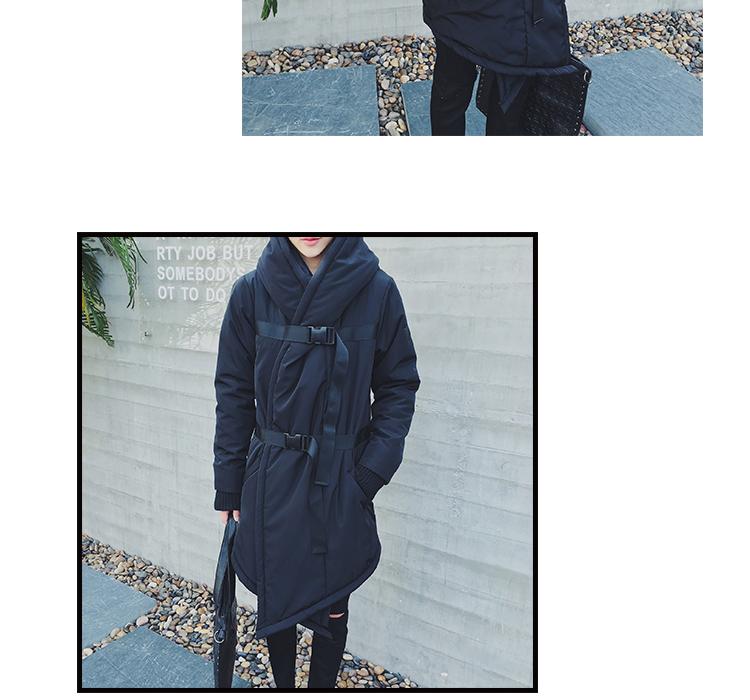 Скидки на 2016 зима новый мужчины пальто с капюшоном случайные ватник мода теплая мужская одежда длинный ремень сгущать куртка мужчины парки D3