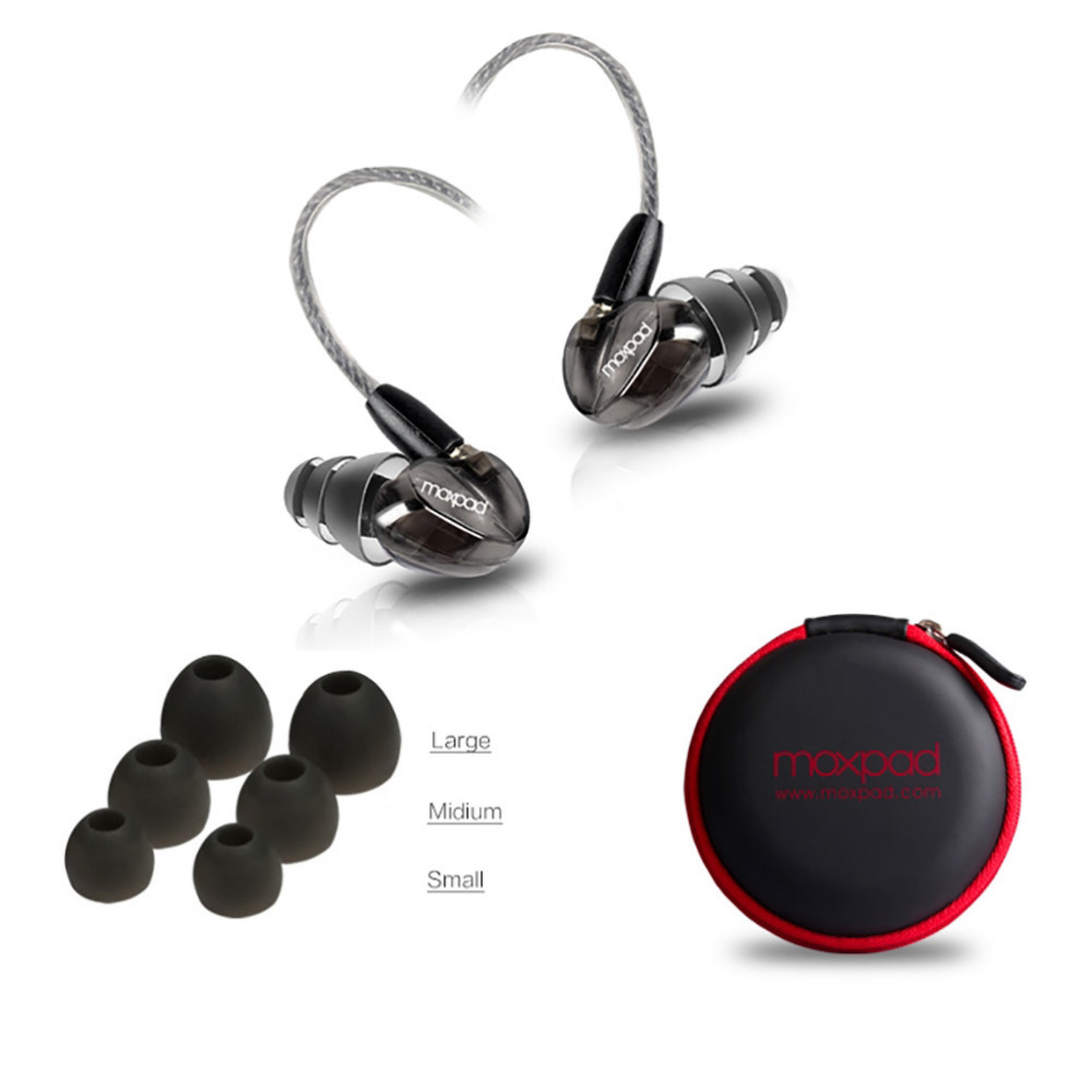 New Brand Moxpad X6 In-ear Sport Earphones with Mic Replacement Cable+Noise Isolating Music Headphone for iPhone Samsung