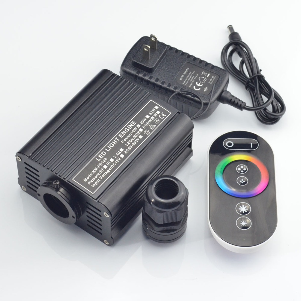 touch  remote 16W LED RGB Fiber Optic light engine for night sky ceiling<br><br>Aliexpress