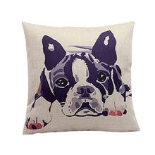 Bulldog Pattern Sofa Bed Pillow Case Cushion Cover