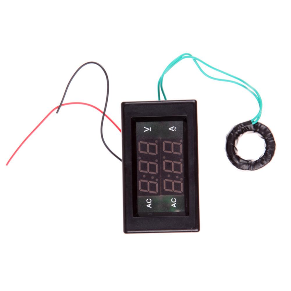 AC Digital Ammeter Voltmeter LCD Panel Amp Volt Meter 100A 300V 110V 220V<br><br>Aliexpress