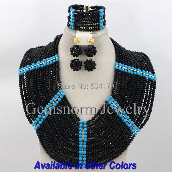 Chunky Big African Jewelry Set Nigerian Wedding Beads Jewelry Set  2014 Crystal Bridal Jewelry Sets Free Shipping GS423<br><br>Aliexpress