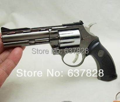 electronic 2014 new lighter guns pistols gadget for life cigarette case oil lighter refillable lighter revolver free shipping(China (Mainland))