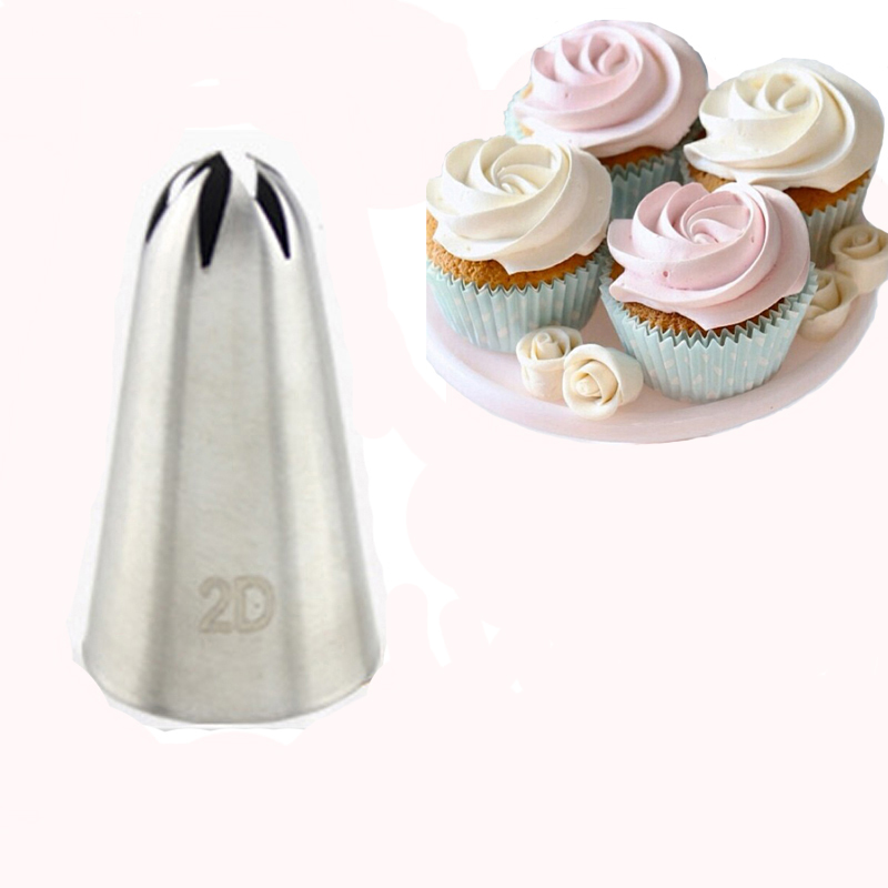 #2D Large Size Rose Flower Cake Decorating Icing Tips ...