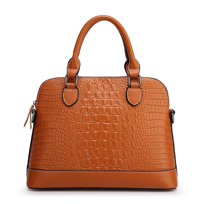 Women Alligator Top-Handle bag Soft Solid Genuine Leather Female handbag Wristlets Bag sac a main femme de marque luxe cuir 2016(China (Mainland))