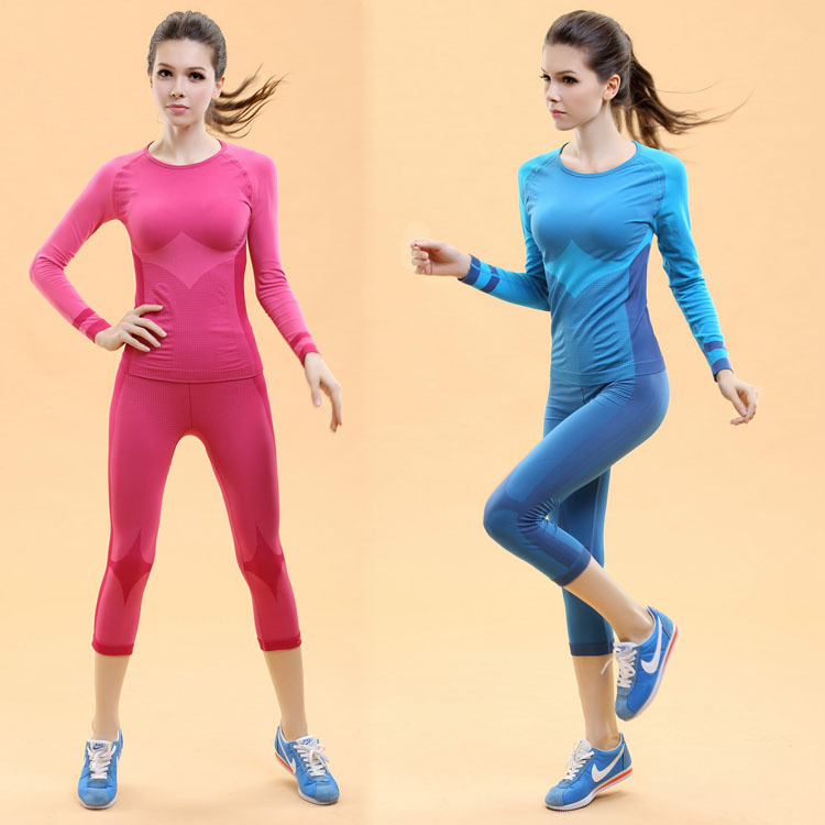 Buy Women Tops Shorts Yoga Sets Fitness Clothing Sport Suit For Female Women