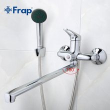 Frap Bathroom Mixer 40cm stainless steel long nose outlet brass shower faucet F2213(China (Mainland))