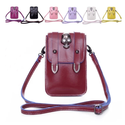 Vintage skull bags candy color mini mobile phone small bags coin purse women's handbag trend messenger bag(China (Mainland))