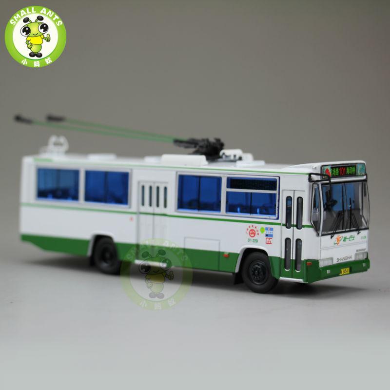 1:76 Scale ShangHai Brand Trolleybus China GuangZhou Bus NO.101 Diecast Bus Car Model(China (Mainland))