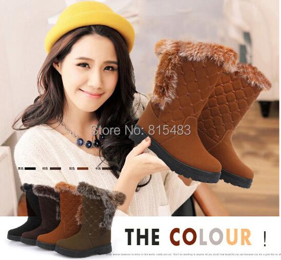 2014 narrow(aa,n) pu solid women soft platforms new botas femininas high heels boots snow boots and autumn winter shoes ydx17(China (Mainland))