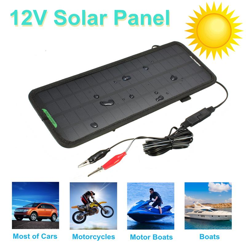 2016 New Multi Portable 12V 4.5W Car Solar Panel Battery Portable Power Backup Charger for Car Boat Motorcycle
