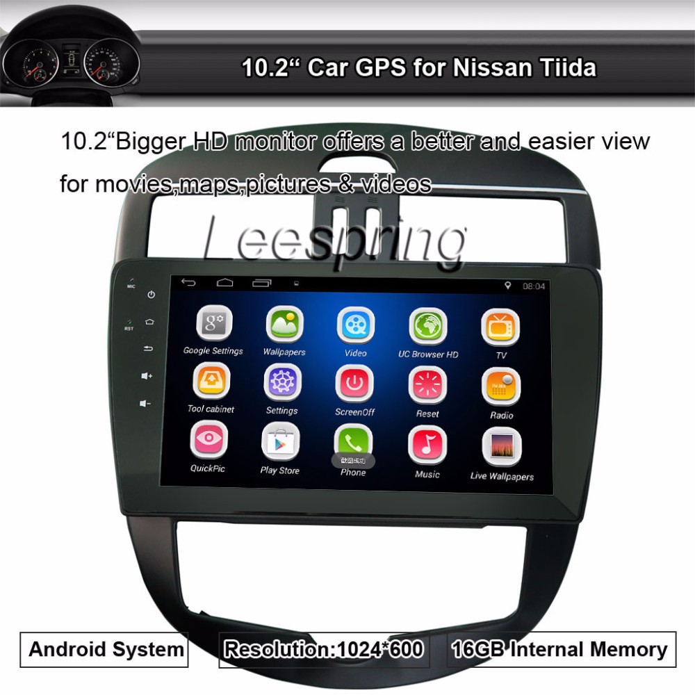10.2 inch Quad-Core 1024*600 Android Car GPS Radio for Nissan Tiida Support Wifi,Smartphone Mirror-link,Android App