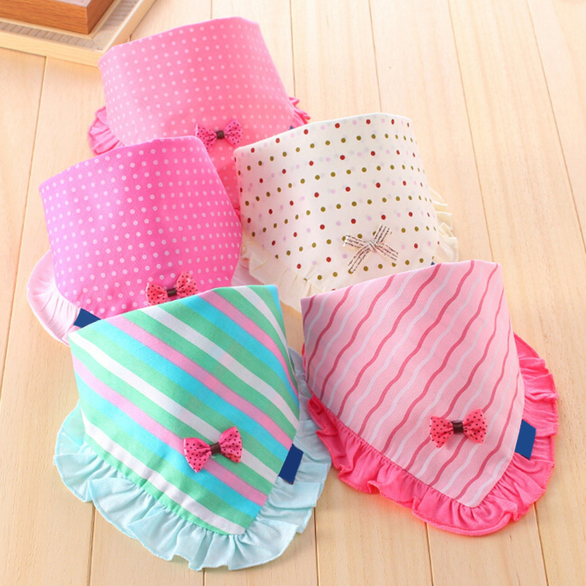 High Quality Baby Girls Bibs Toddler Bandana Triangle Head Scarf Cute Saliva Towel Cotton For Baby Bandana Bibs Multicolor(China (Mainland))