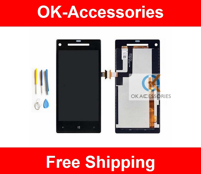 Free Tools+LCD Display +Touch Screen Digitizer For HTC 8X C620e 1PC/Lot Free Shipping