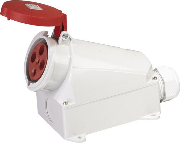 Фотография Saipwell Hot Sale ip44 industrial waterproof male female plug and socket 400v 4P 63A SP-1141