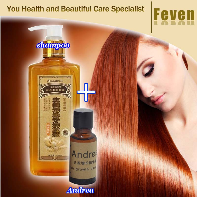 Ginger Professional Hair Shampoo And Conditioner 300ml, Natural Hair growth Fast,Thicker,Aussie Shampoo Hair Loss Product(China (Mainland))
