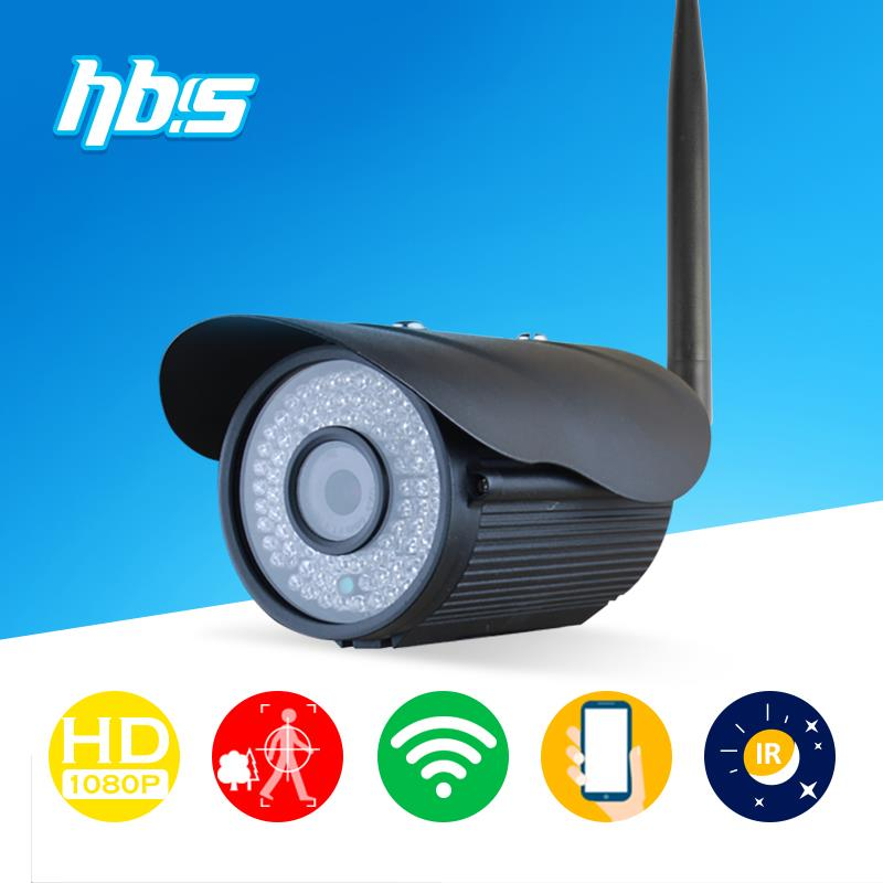 HBSS 2mp wifi ip camera 1920*1080P 802.11 b/g/n outdoor 84 pcs LED IR night vision waterproof Onvif Surveillance Cameras(China (Mainland))