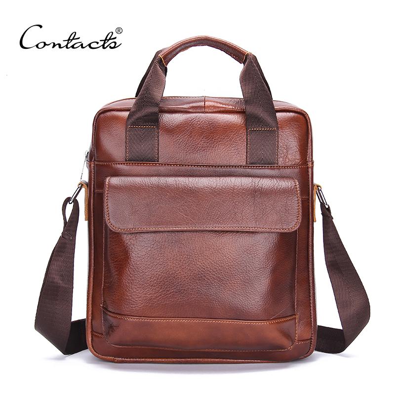Bolsa Feminina High Quality Men Handbags Genuine Cowhied Leather Men Messenger Bag For Casual Business Shoulder Bag Handbags(China (Mainland))