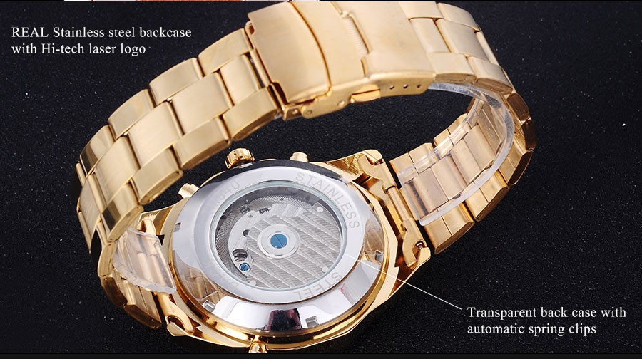 Часы мужчины люксовый бренд FORSINING розовое золото черный нержавеющей стали бизнес-часы автоматические Механические турбийон наручные часы