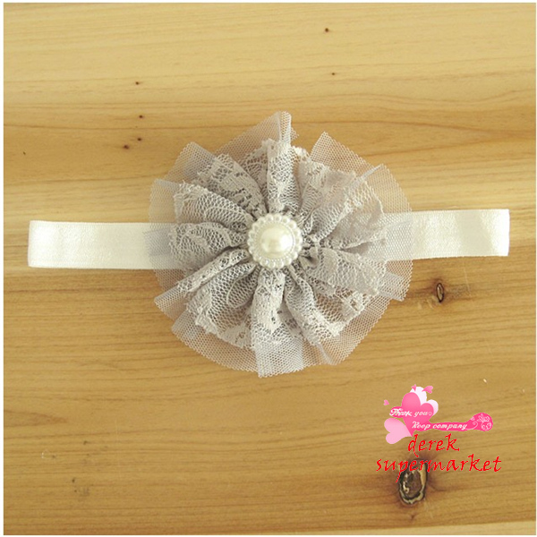 The New Arrival Baby Girl Vintage Lace Flower Headbands Toddler Headbands Newborn Headbands Mix Colour Headband XM-94(China (Mainland))