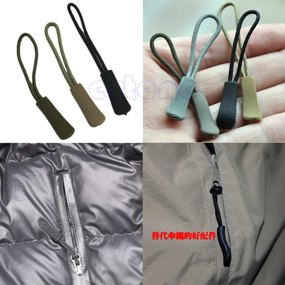A96 Free Shipping 30pcs/lot Plastic Rope Puller Zipper Pull Zip Slider Fastener Replacement Bag Accessories(China (Mainland))