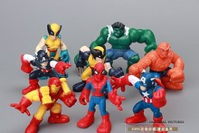 8pcs/lot 6cm Iron Man Hulk Thor Captain America Q style The Avengers Figure Marvel Action Figure Toys