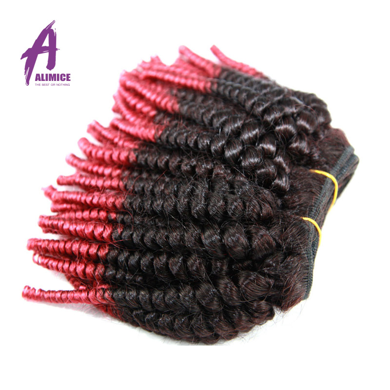 New Arrival Brazilian Ombre Hair extension 2 Pieces Lot Cheap Wholesale Hair Fumi Human Hair Afro kinky Culry  Free Shipping<br><br>Aliexpress