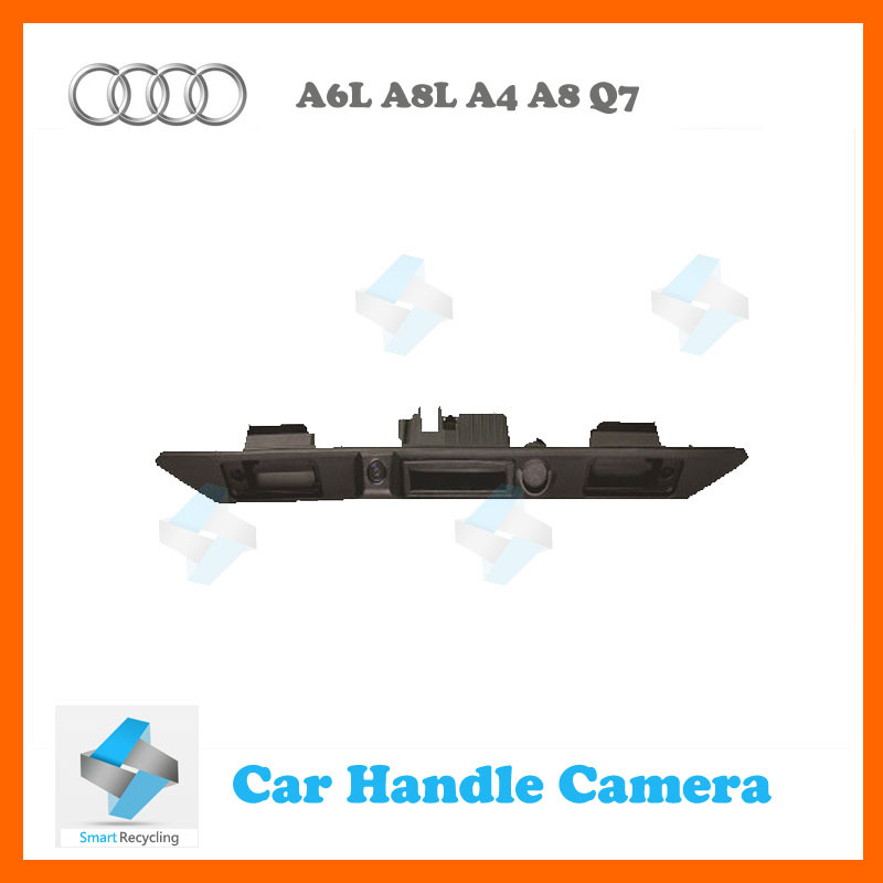 Free shipping car rear view backup parking camera for Trunk handle Audi A3 A6L A8L A4 A8 Q7 waterproof(China (Mainland))