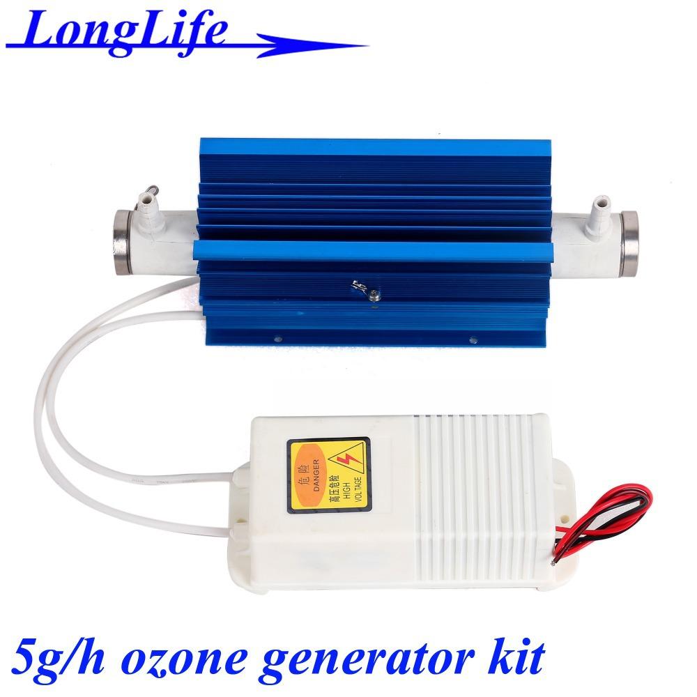 LF-2205QSMT, AC220V/AC110V 5g/h 5gram 5g-8.4g/h ozonator Quartz tube type ozone generator Kit ozone generator 5g water and air(China (Mainland))