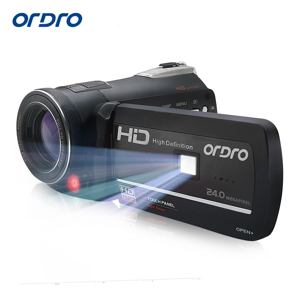 Ordro Digital Video Camera HDV-D395 Infrared Night Vision Camcorder Wifi HD 1080P 30fps with Remote Control Dual LED Lights(China (Mainland))