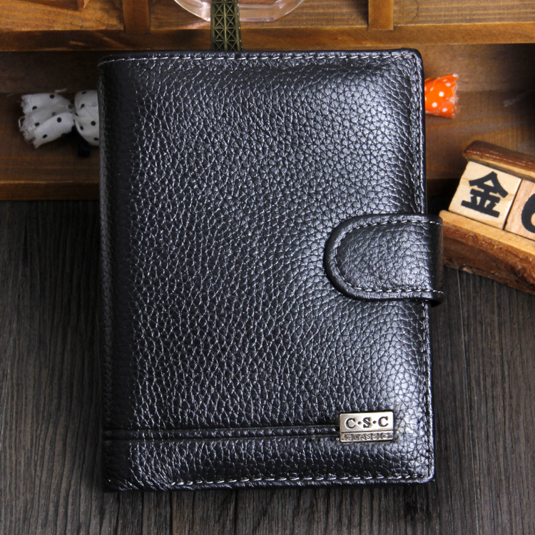 Free Shipping!New High Quality Men Wallet Genuine Leather Fashion Design Large Capacity Men Purses Wallets C3185(China (Mainland))