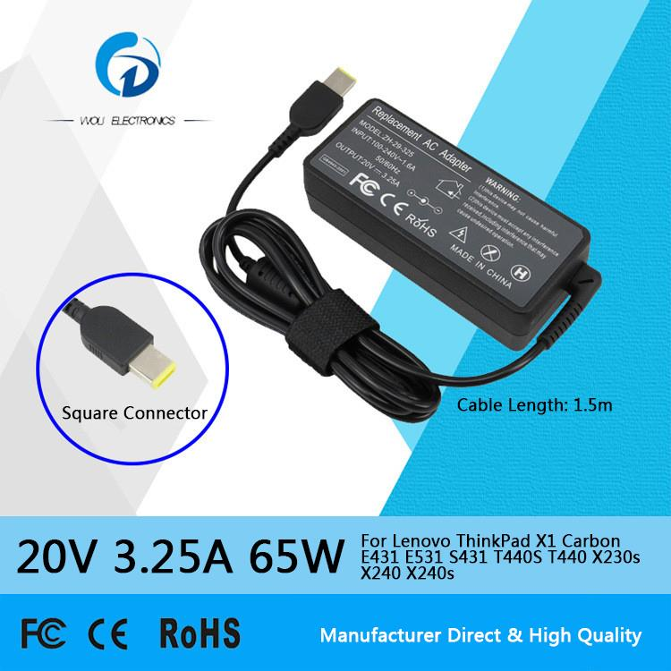 20v 3 25a 65w Ac Laptop Power Adapter Charger For Lenovo