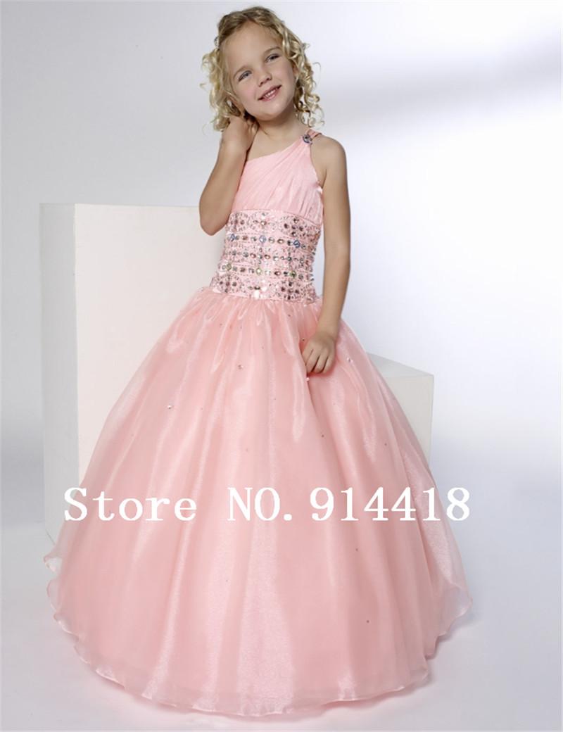 Cheap Pink Flower Girl Dresses
