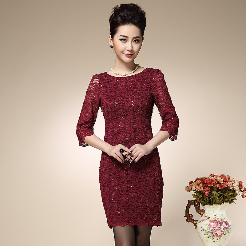 2015 high end vintage lace dress clothing for