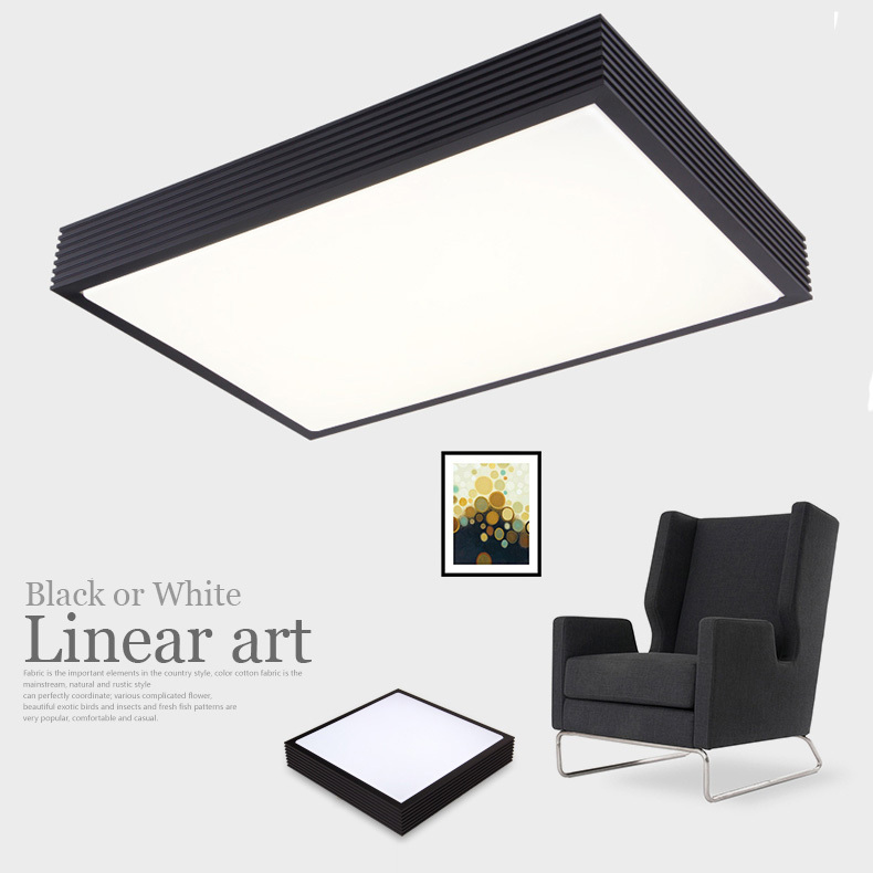 Modern LED ceiling lights for living room bedroom square 24W 32 48W 64W 80W home ceiling