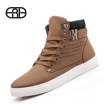 2015 Hot Men Shoes Sapatos Tenis Masculino Male Fashion Spring Autumn Leather Shoe For Men Casual High Top Shoes Canvas Sneakers