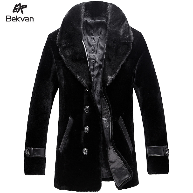 Mink Turn-Down Collar Male Fur Overcoat Medium-Long Male Fur One Piece Leather Clothing Одежда и ак�е��уары<br><br><br>Aliexpress